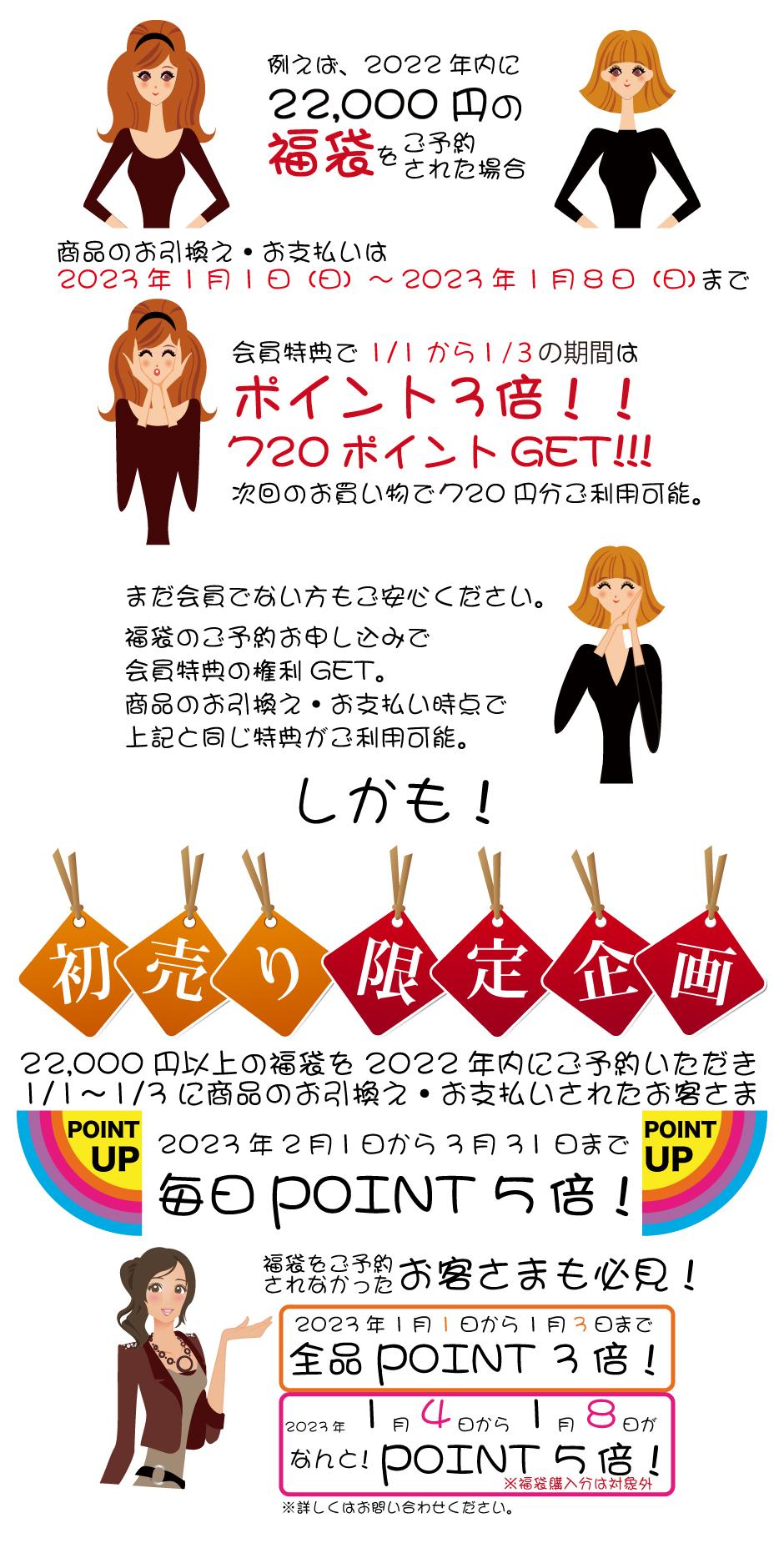 カネボウ・トワニー・リサージ福袋 初売り限定企画