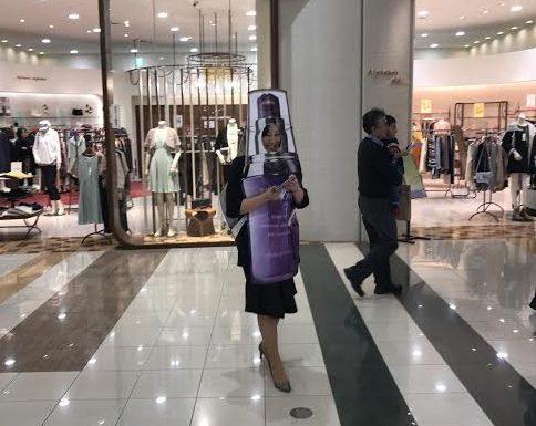 イオンモール札幌発寒 化粧品専門店BellTolls リポ子ちゃん=モイスチュアリポソーム