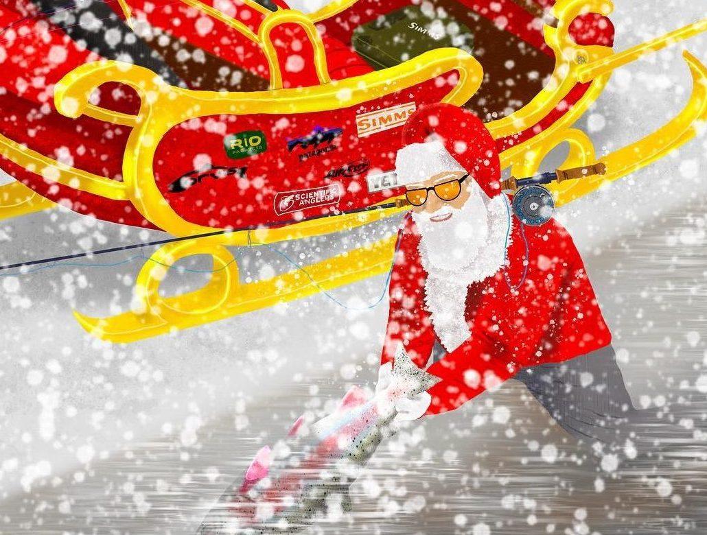 イオンモール札幌発寒 化粧品専門店BellTolls クリスマス サンタクロース フライフィッシング